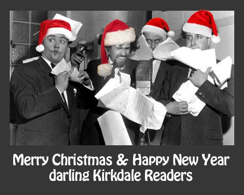 A joyful christmas card to my reading group!