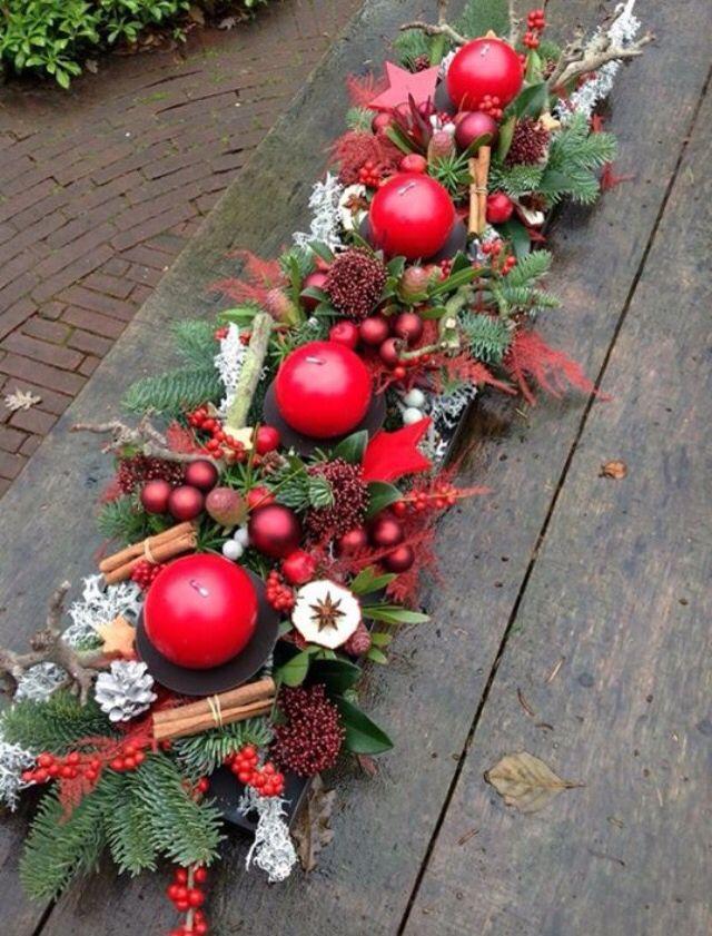 Centro De Mesa Navidad Pinterest Navidad Decoracion Navidena - Como-hacer-centro-de-navidad