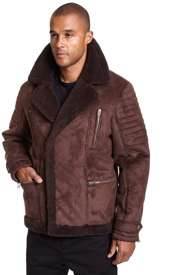 e1bc244b0a753 Big   Tall Excelled Faux-Shearling Jacket
