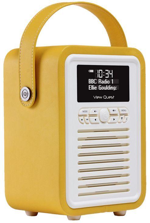 View Quest Retro Mini DAB+/FM Radio with Bluetooth (Mustard)