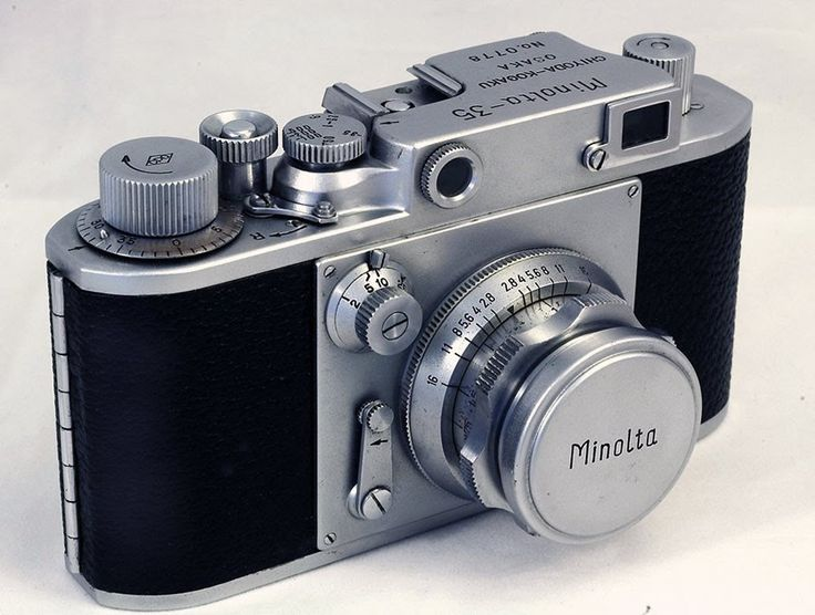 Introduction in 1947of the long lived 35mm rangefinder camera the Minolta-35