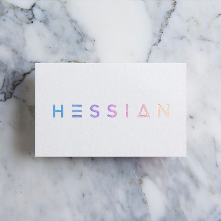 Throwback ✌️ Refreshed identity — custom type, holographic foil stamped on 100% recycled cotton business cards for @hessianmagazine Photographed and styled by @amoredulce Printed by @stitch_press #tbt