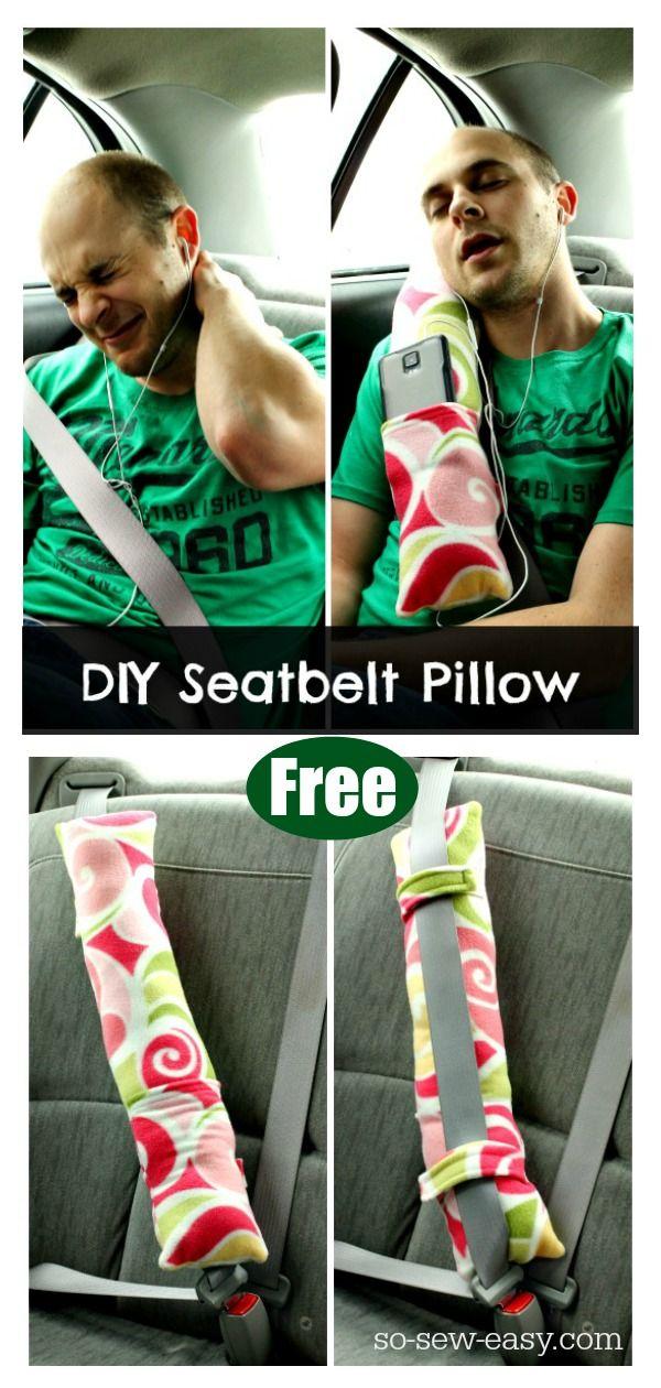 Seatbelt Pillow Free Sewing Pattern #Startsewingfreepattern #easysewingproject #…