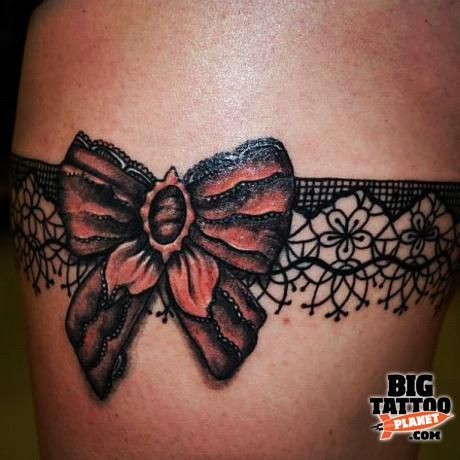 garter tattoo | Tumblr