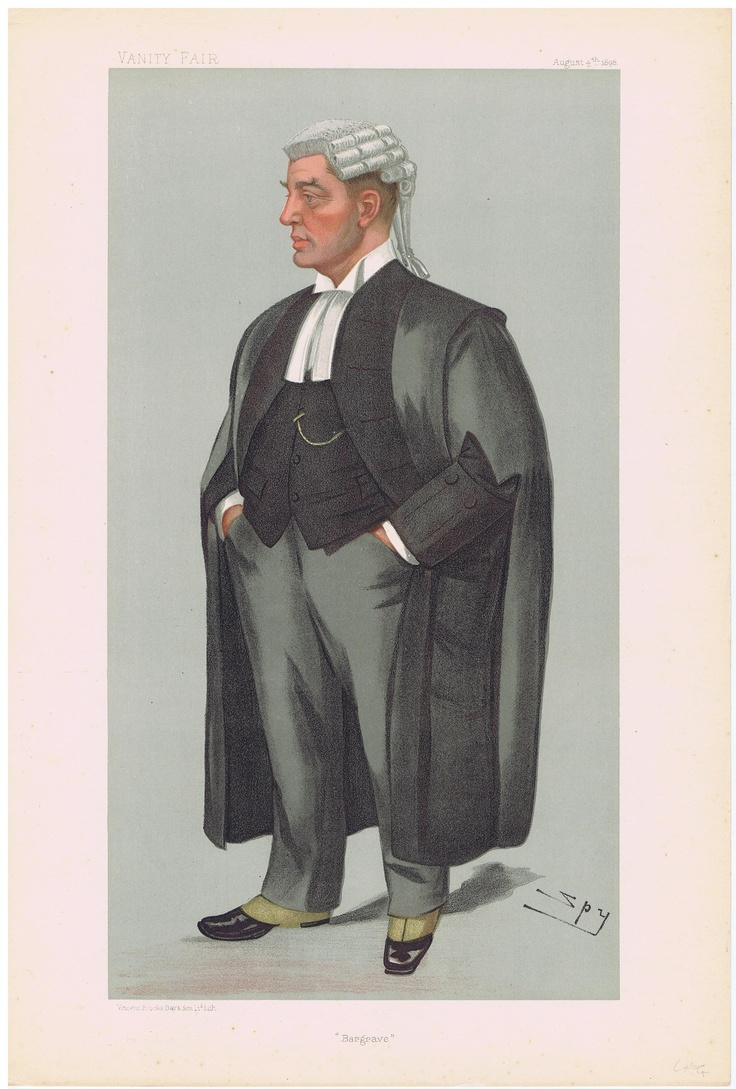 Date: 04-Aug-1898 The Vanity Fair Caricature of Mr. Henry Bargrave FinneUy Q.C. Deane With the caption of : Bargrave By the artist: SPY Visit www.theakston-thomas.co.uk for many more Vanity Fair Prints, we have one of the largest collections in the world.