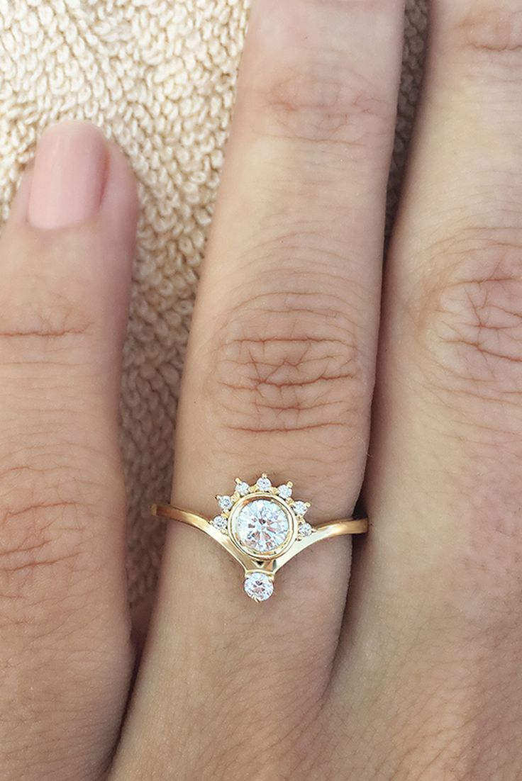 Inexpensive Unique One Of A Kind Engagement Rings