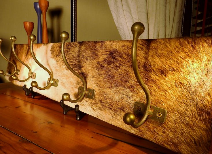 "Cool! Beige, Grey, Brown, an ""exotic"" Norwegian calf skin coat rack www.kuliku.no"