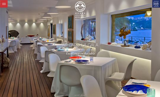 Featured of the Day 07 Jun 2015 http://www.csslight.com/website/12085/Capo-La-Gala-Luxury-Hotel