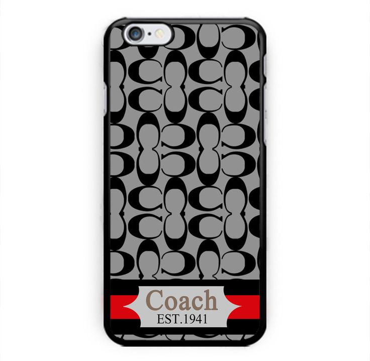 NEW RARE Design Coach Fashion Gray Stripes Print On Cover Case For iPhone 6/6s 7 #UnbrandedGeneric