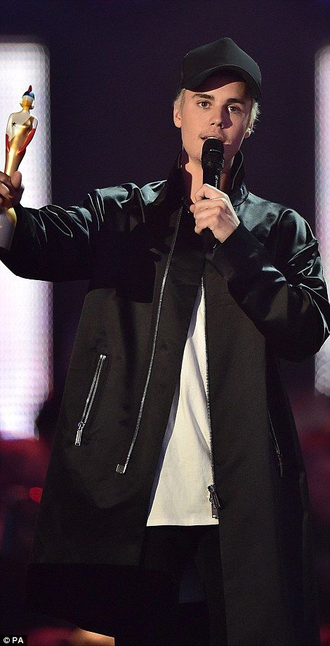 Taking the crowd: Justin Bieber delivered one of the best performances of the night at theBRIT Awards 2016, held at London's O2 Arena on Wednesday night