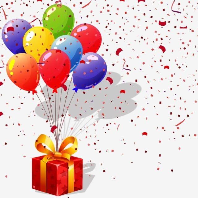 Hermoso Regalo De Cumpleanos Con Globos Png Clipart De Globos De Cumpleanos Caja De Regalo Png Confetty Png Png Y Vector Para Descargar Gratis Pngtree Birthday Balloons Clipart Happy Birthday