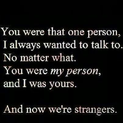 You were the one..