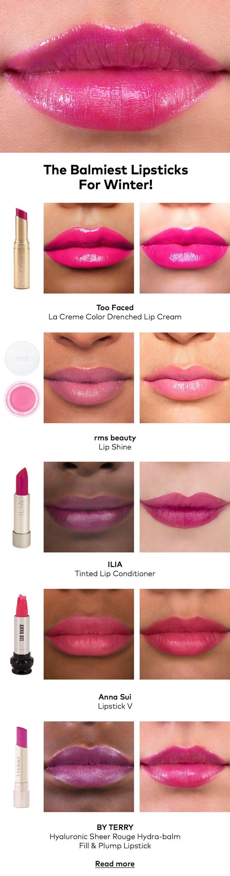 Get Hydrated! The Balmiest Lipsticks For Winter | Beautylish  I especially like the Ilia Lip Conditioner.