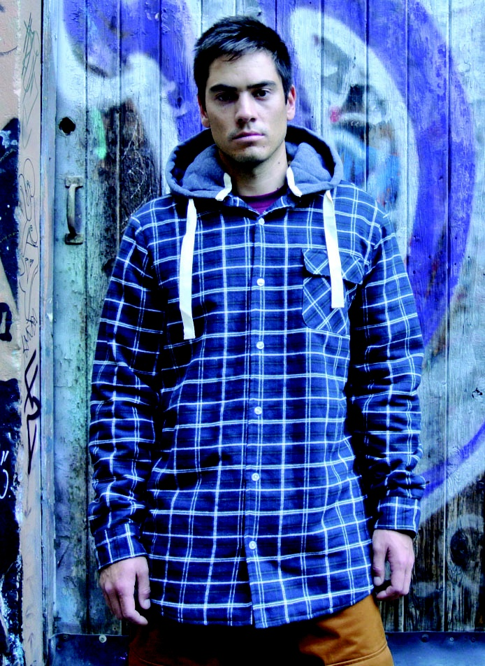 Image of OOTZ 074 - OOTZ Sherpa Lined Tall Flannel - Navy Check