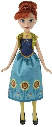 Het is Annaªs verjaardag en Elsaªs krachten zouden wel eens meer dan een kleine verrassing kunnen brengen. In een stijl die is geinspireerd op de Walt Disney tekenfilm Frozen Fever is deze Elsa pop gekleed in een prachtige lentejurk. ElsaÛªs feestelijke outfit is pas echt af met een paar snoezige schoentjes en een bloem voor haar haar. Zo wordt het een verjaardagsfeest in de stijl van Frozen Fever.   Afmeting: 326x51x152 mm - Fashion Princess Frozen Fever: Anna