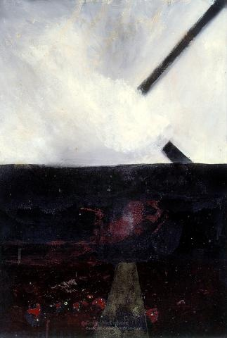A landscape - Fragments of a cross, 1959  Colin McCahon