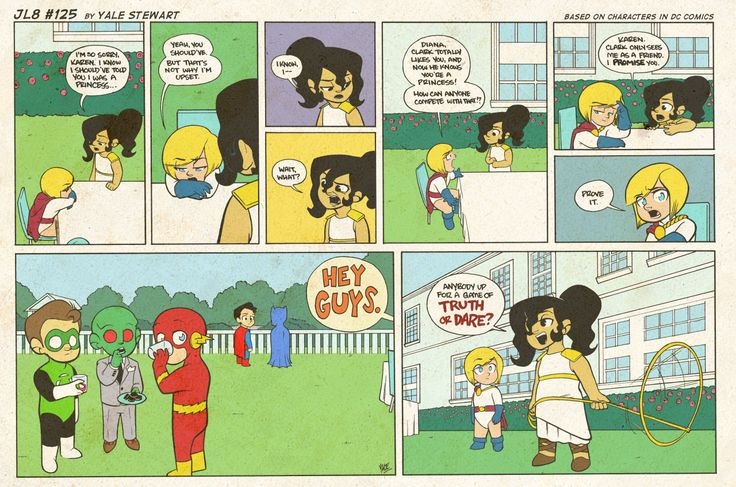 JL8#125 by Yale Stewart Based on characters in DC Comics. Creative content © Yale Stewart. Like the Facebook pagehere! Archive 2013 Con Schedule Twitter Pick up the first issue of my creator-owned comichere, or merch at the newonline store! — Hey guys! So, I'll be straight with you. It looks like I need a new car. That being said, I wanted to remind everyone about my creator-owned comic for sale over on Gumroad. It's a digital, 32 page PDF, and you choose what to pay fo...