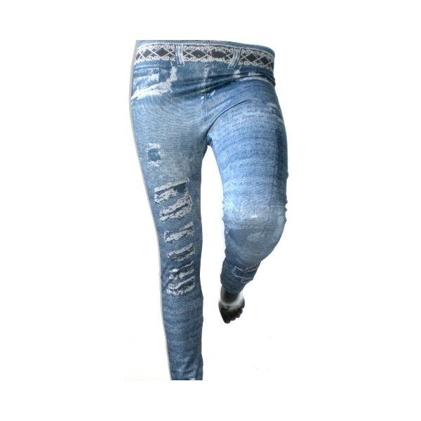 jeggings effetto jeans strappati