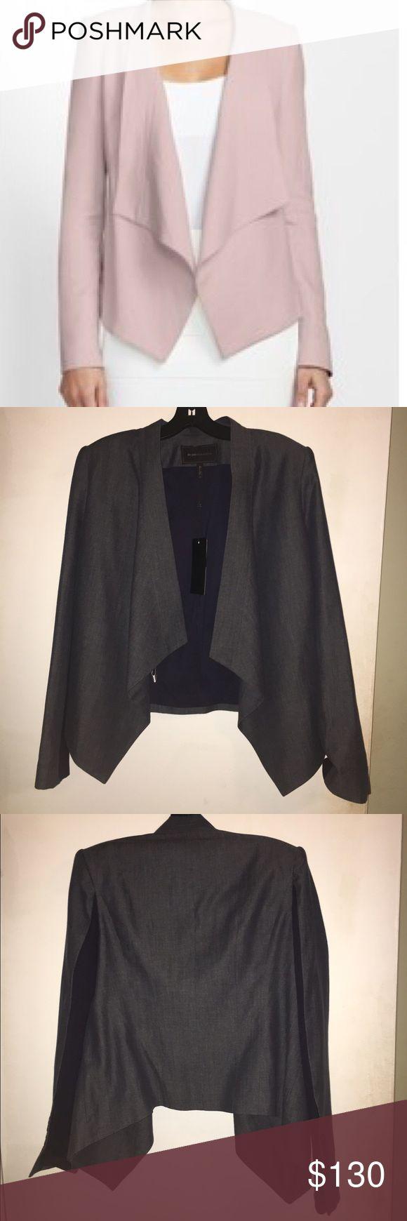 BCBGMaxAzria relaxed blazer Draped blazer in Indigo/Dark Blue. Casual but can easily be dressed up. BCBGMaxAzria Jackets & Coats Blazers