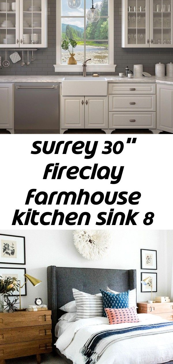 Surrey 30 Inch Fireclay Farmhouse Kitchen Sink Kitchen Apron Sink Homeimprovementkitchen Villastyling Has Taken Our Ochre Sandalwood Fr Farmhouse Sink Kitchen Apron Sink Kitchen Kitchen