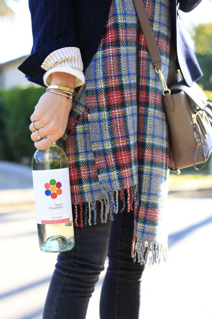 scarf, blazer (and okay, wine)