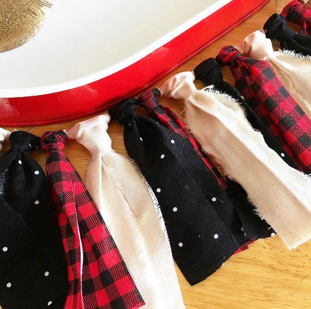Mini Red and Black Buffalo Plaid Garland | Christmas Garland | Holiday Banner | Buffalo Check Garland by MustardSeedDesignsUS on Etsy https://www.etsy.com/listing/577994253/mini-red-and-black-buffalo-plaid-garland