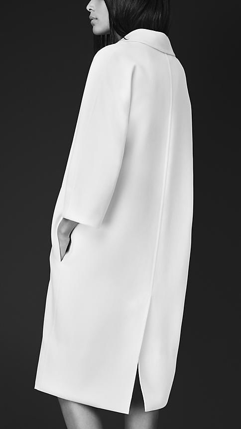 White wool coat.
