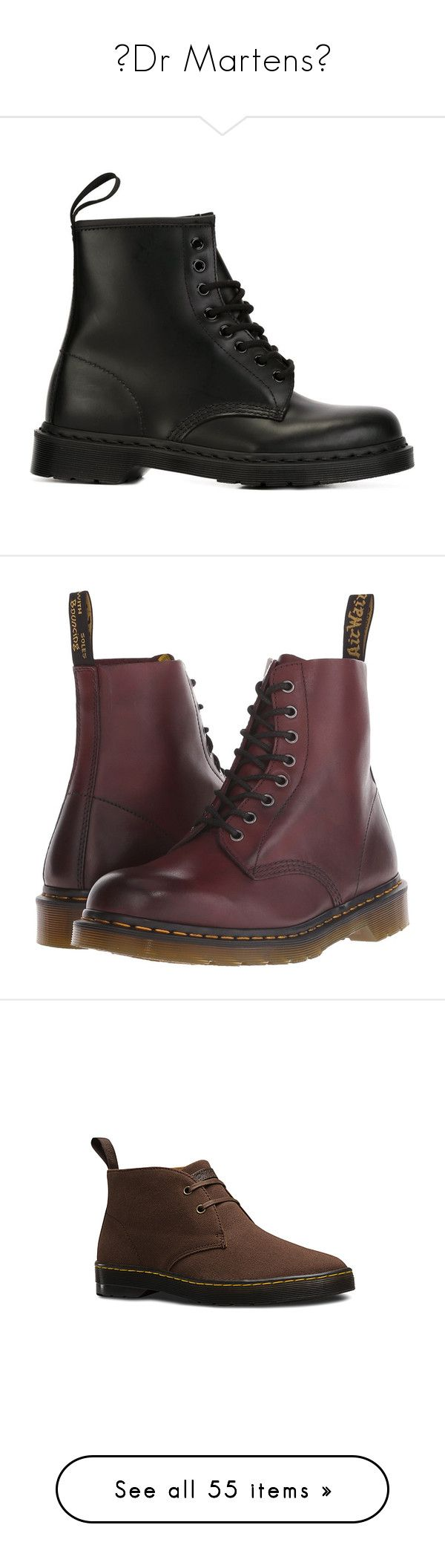 """≡Dr Martens≡"" by twentyonesecondsofsummer ❤ liked on Polyvore featuring men's fashion, men's shoes, men's boots, mens boots, dr martens mens boots, mens short boots, mens shoes, dr martens mens shoes, shoes and boots"