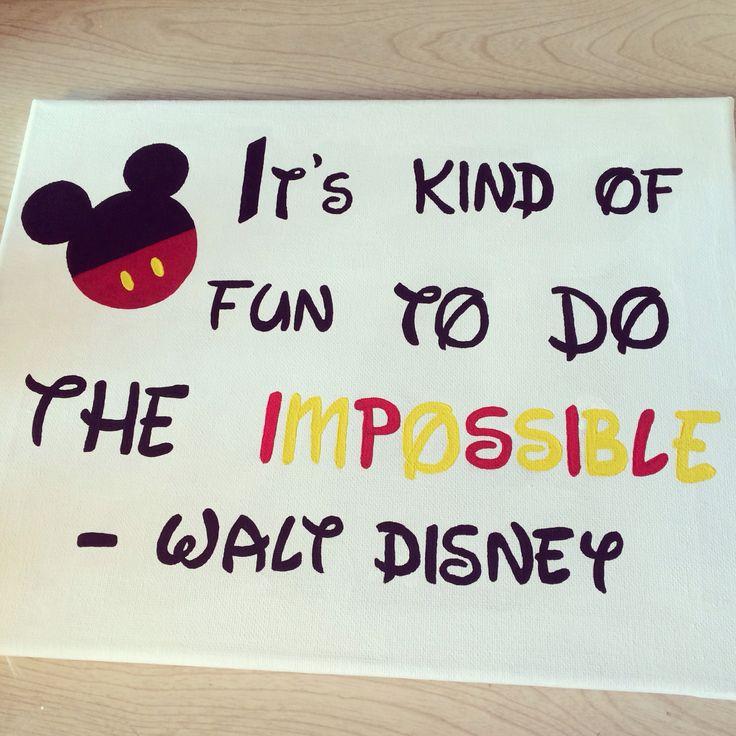 Walt Disney Canvas Painting DIY