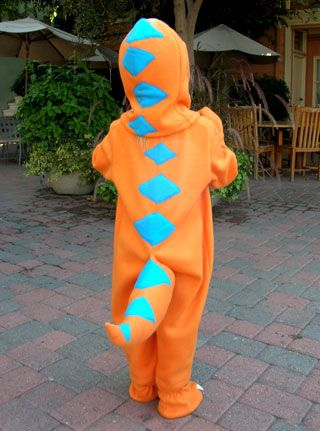 """PBS provides costume patterns in both sewing and no-sew options for Buddy the Dinosaur.  Also great if you want a dino slipper pattern!  I haven't been able to find any """"dino feet"""" slippers for my son who is out of the toddler sizes."""