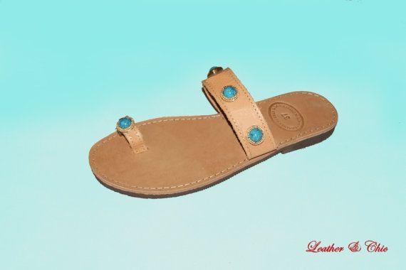 Ladies Turquaze Stones Sandals - Finger turquaze All