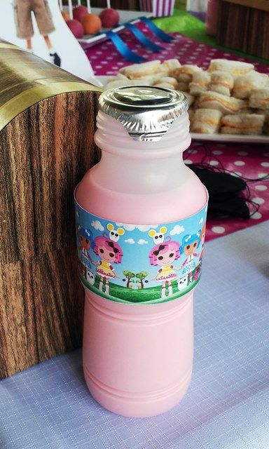 Strawberry Milk with Lalaloopsy Labels