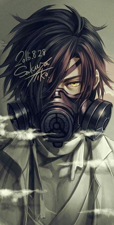 59 best anime gas mask images on pinterest - Anime girl with gas mask ...