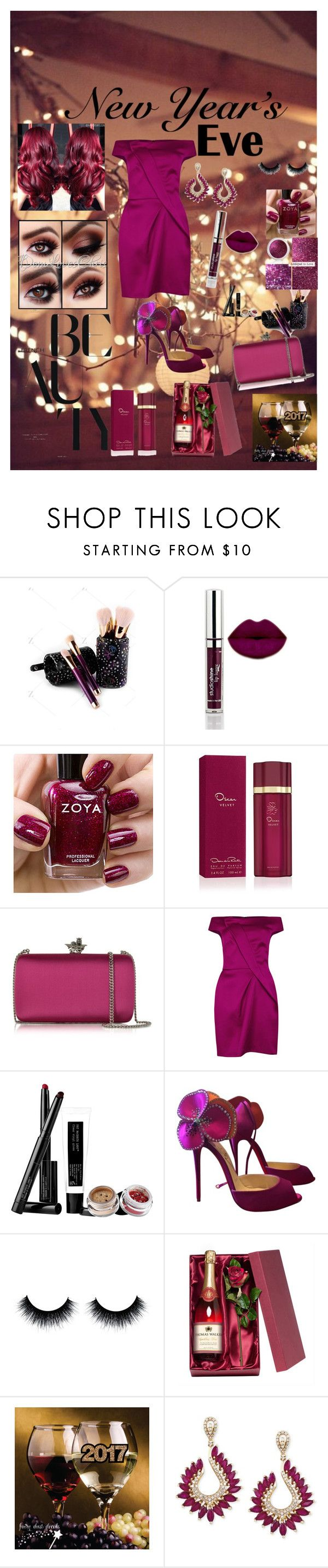 """New Years Eve Beauty"" by marlaj-50 ❤ liked on Polyvore featuring beauty, Zoya, Oscar de la Renta, Roberto Cavalli, Roland Mouret, Pat McGrath, Christian Louboutin and Effy Jewelry"