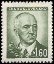 Znaczek: Dr. Edvard Beneš (1884-1948), president (Czechosłowacja) (Portraits) Mi:CS 467,Sn:CS 303,Yt:CS 409,AFA:CS 323,POF:CS 420
