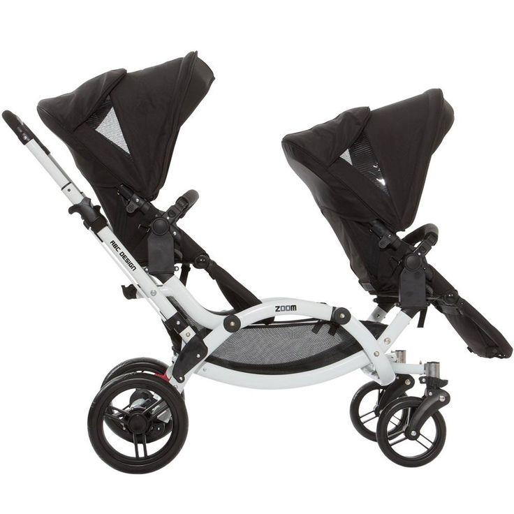 carrinho de bebe gemeos zoom granit twin abc design