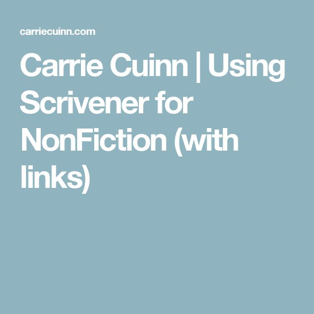 145 best scrivener images on pinterest fiction online courses carrie cuinn using scrivener for nonfiction with links pronofoot35fo Images