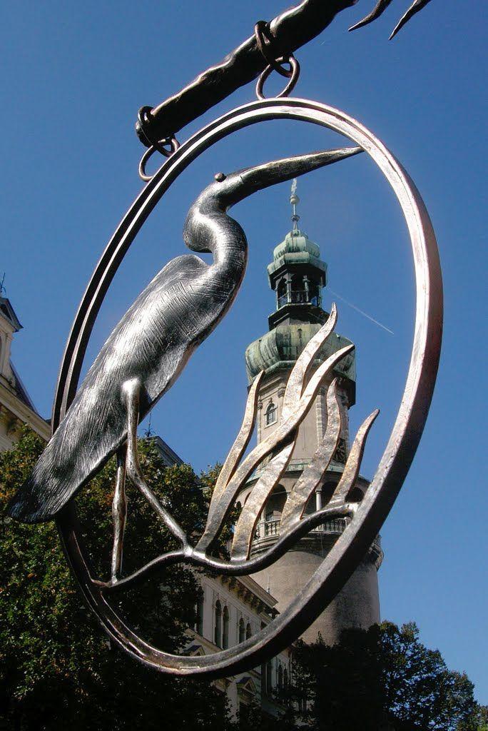 Kovács Gábor alkotása, a Fertő-Hanság Nemzeti Park mintaboltja portáljának dísze volt. Sopron