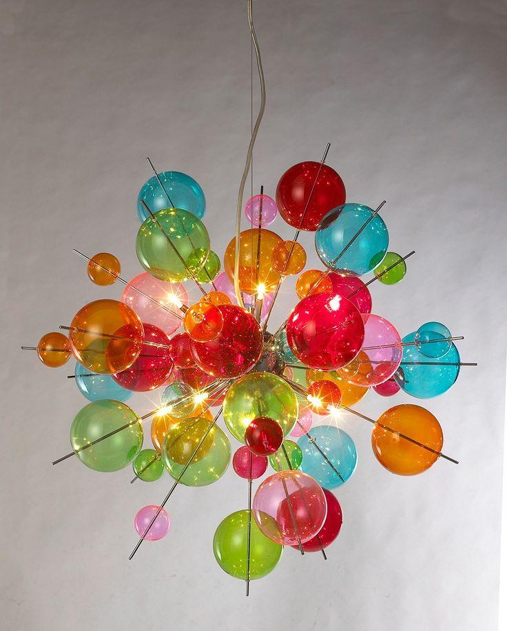 Multicoloured Sputnik Chandelier