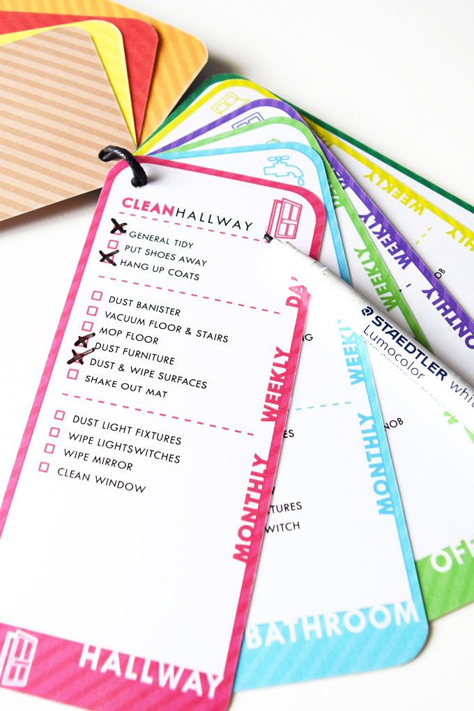 Free printable cleaning checklist. Clean, tick, wipe, reapeat!