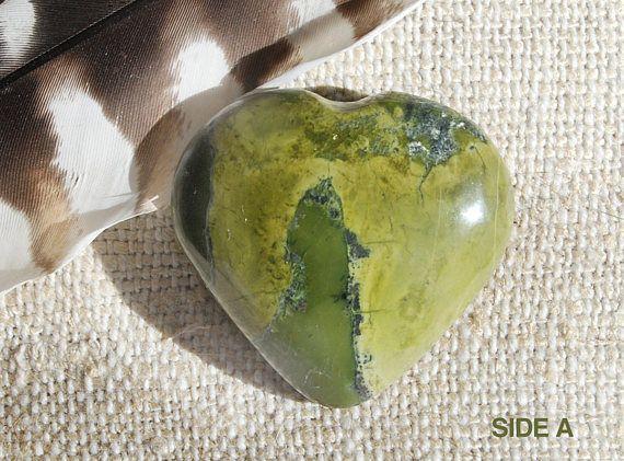 Serpentine Heart  Jade Heart Stone  Serpentine Stone Heart