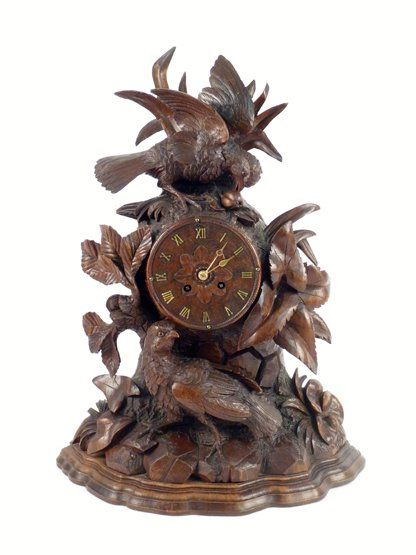 A black Forest Mantel Clock, Late 19th Century