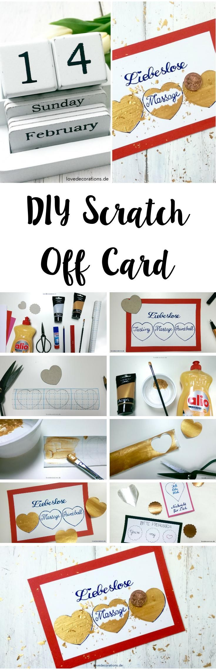 DIY Rubbelkarte | DIY Scratch Off Card