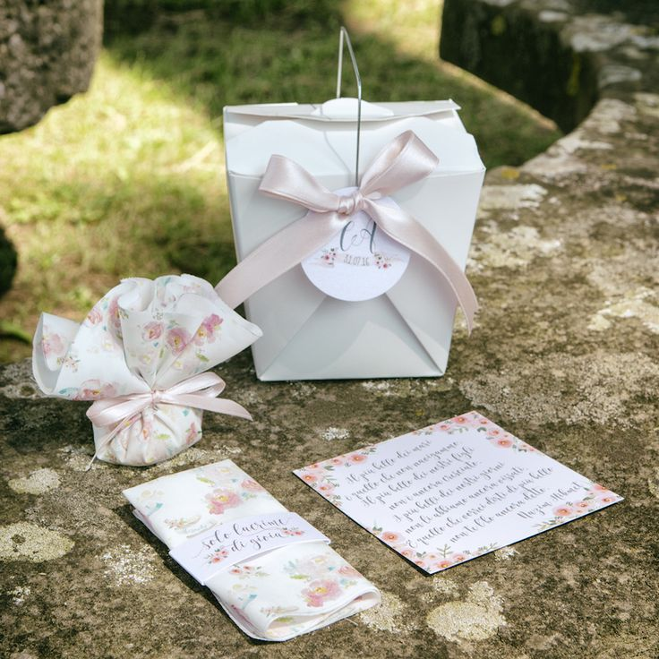 floral invitations and favors