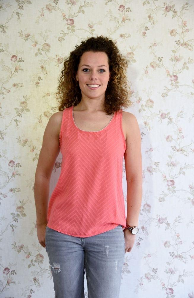 Koraal top, for a lovely summer!