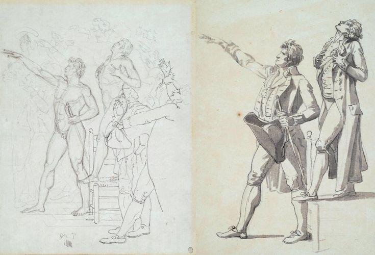 1790 - 91, JL David - Le serment du jeu de paume studie