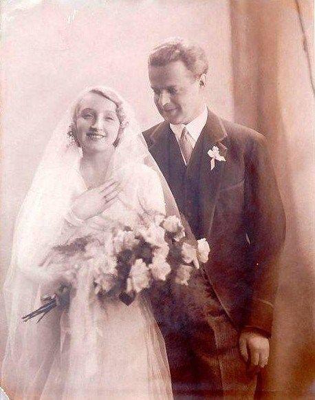 Słynna Hanna Ordonówna bądź prościej Ordonka z mężem Michałem Tyszkiewiczem.