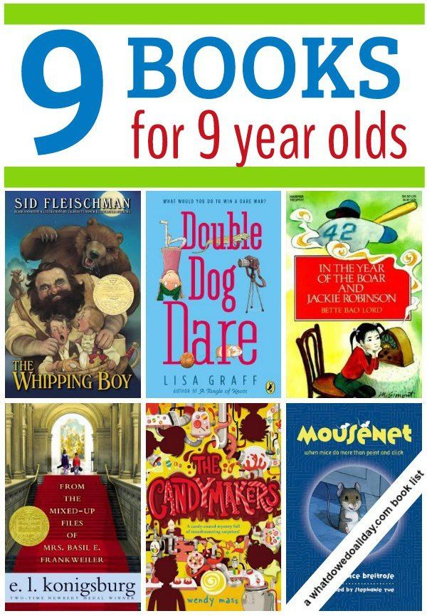 Good variety of books for 9 year olds. Also appropriate for 8-13 year old kids.