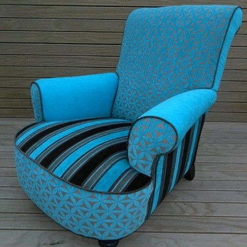 Blue upcycled chair
