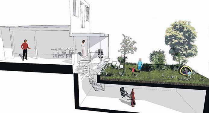 Afbeeldingsresultaat voor prefab kelder in tuin